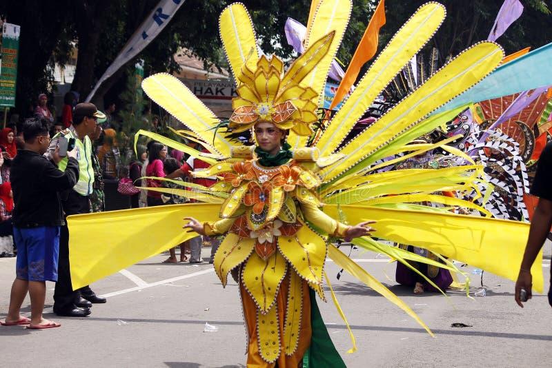 Carnaval indonésio da cultura foto de stock