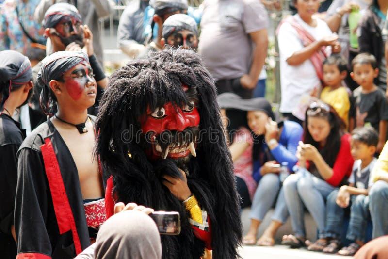 Carnaval indonesio de la cultura foto de archivo libre de regalías