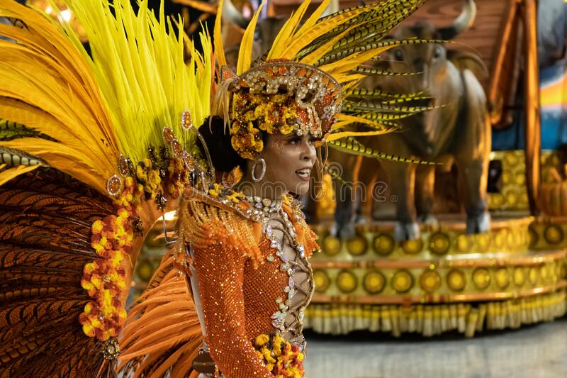 Carnaval 2020 - Inocentes de Belford Roxo foto de archivo