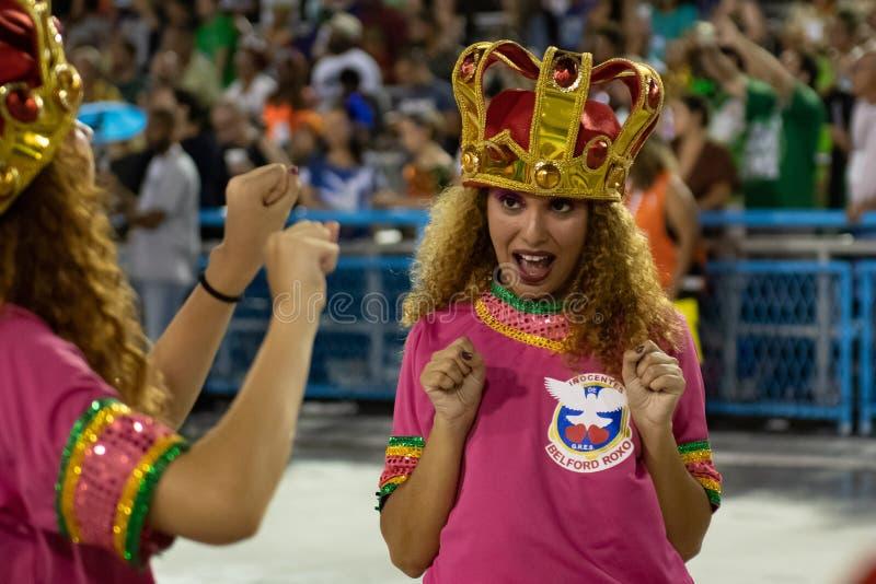Carnaval 2020 - Inocentes de Belford Roxo fotografía de archivo libre de regalías