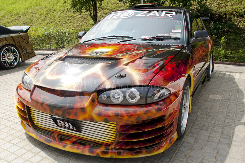 Carnaval malaisien de moteur de 2010 COTY2U image libre de droits