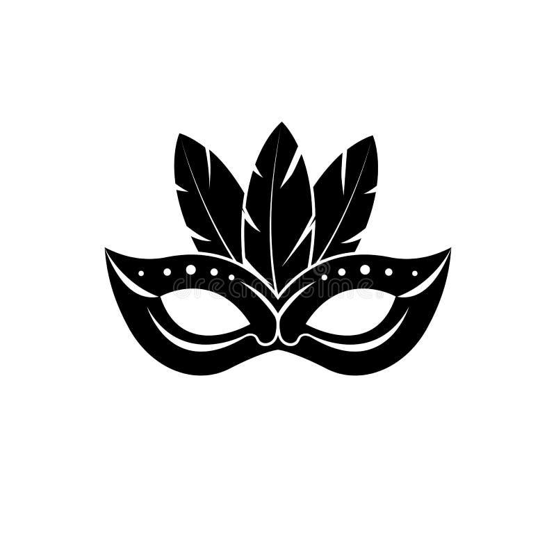 Carnaval-maskerpictogram vector illustratie