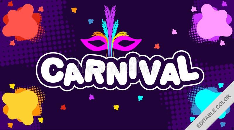 Carnaval met Kleurrijke Achtergrond - Vector vector illustratie