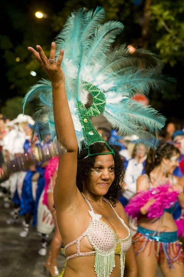 carnaval montevideo royaltyfria bilder