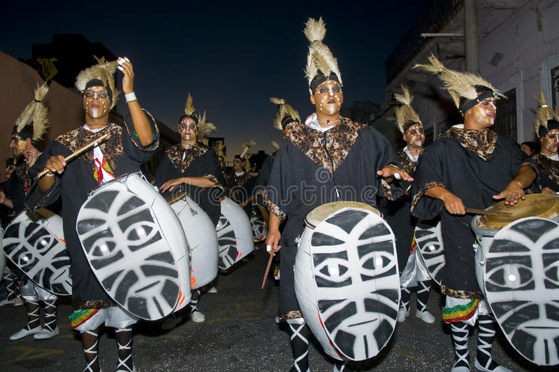 carnaval montevideo royaltyfri foto