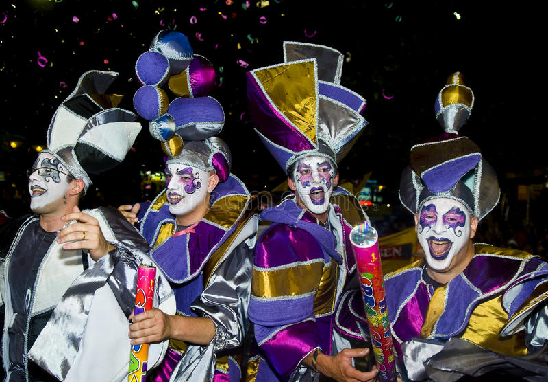 carnaval montevideo royaltyfria foton