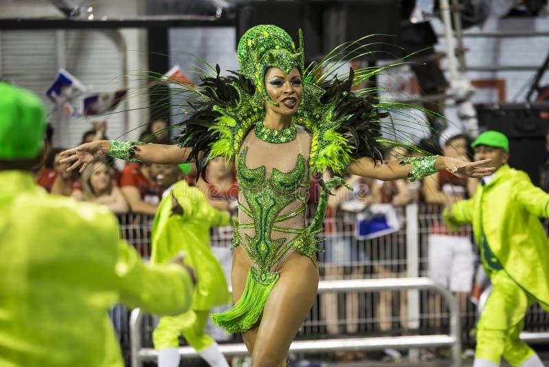 Carnaval Muse Samba Dancer Brazil - Lyllian Braganca stock afbeelding