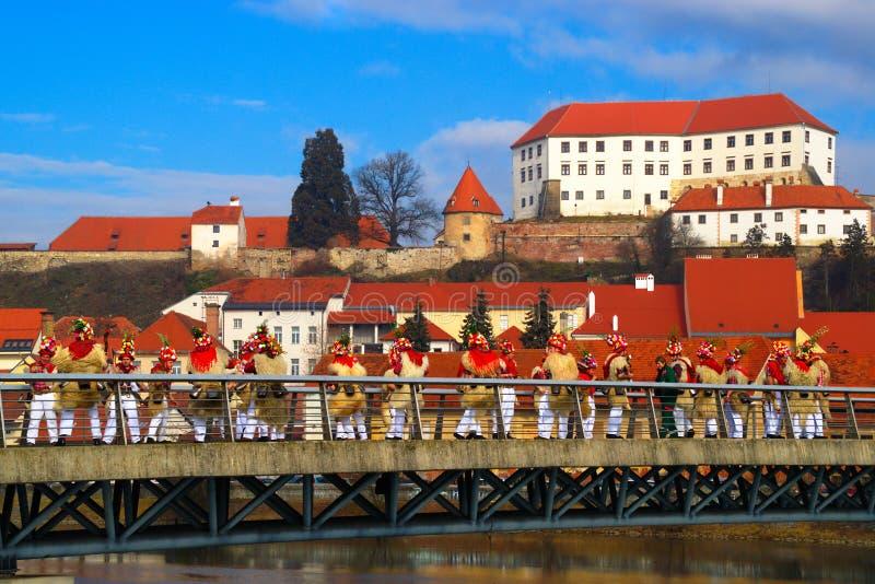 Carnaval in Ptuj, Slovenië royalty-vrije stock fotografie