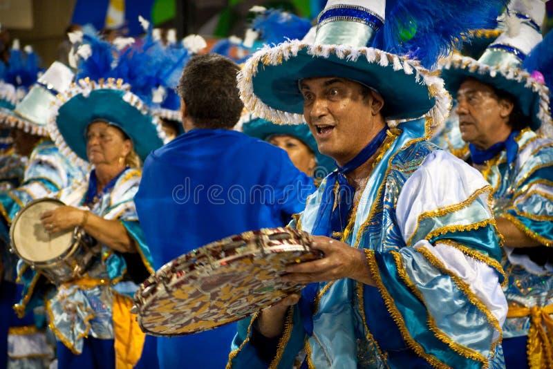 Carnaval in Rio de Janeiro royalty-vrije stock afbeelding