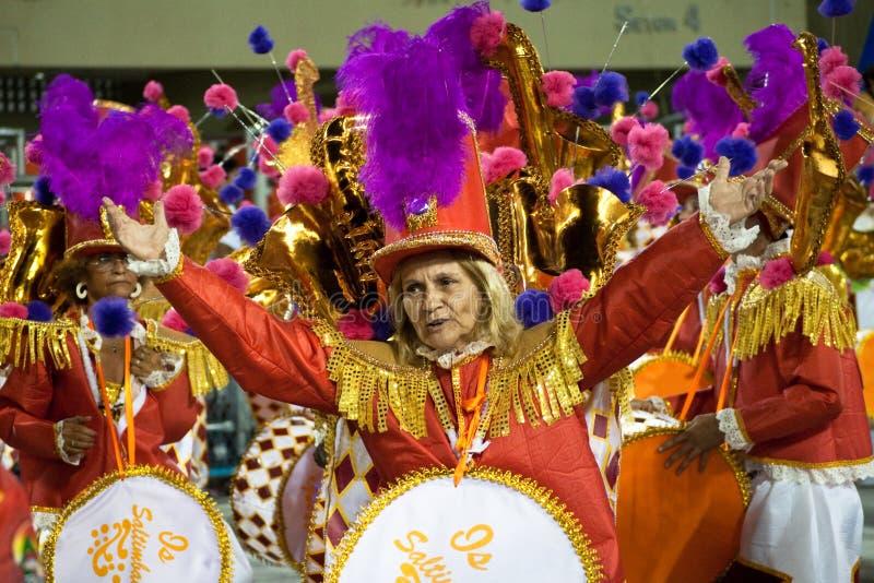 Carnaval in Rio de Janeiro royalty-vrije stock foto