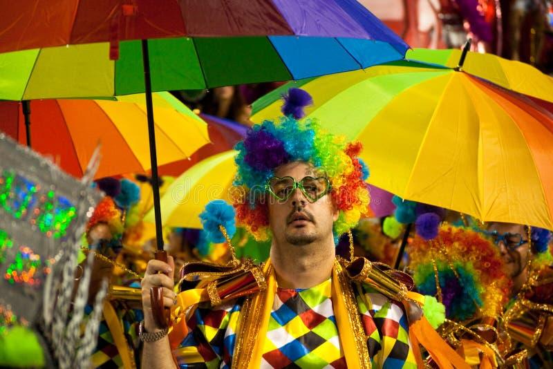Carnaval in Rio de Janeiro stock afbeelding