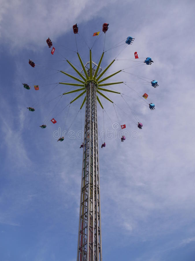 Carnaval-rit in Fêtes DE Genève stock afbeelding