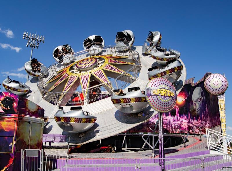 """Carnaval Rit Genoemde """"Supernova† royalty-vrije stock fotografie"""
