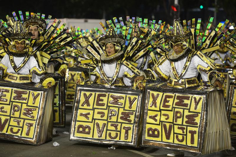 Carnaval Samba Dancer Brazil stock afbeelding