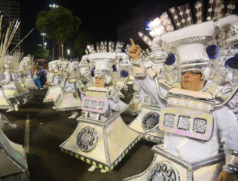 Carnaval Samba Dancer Brazil stock afbeeldingen