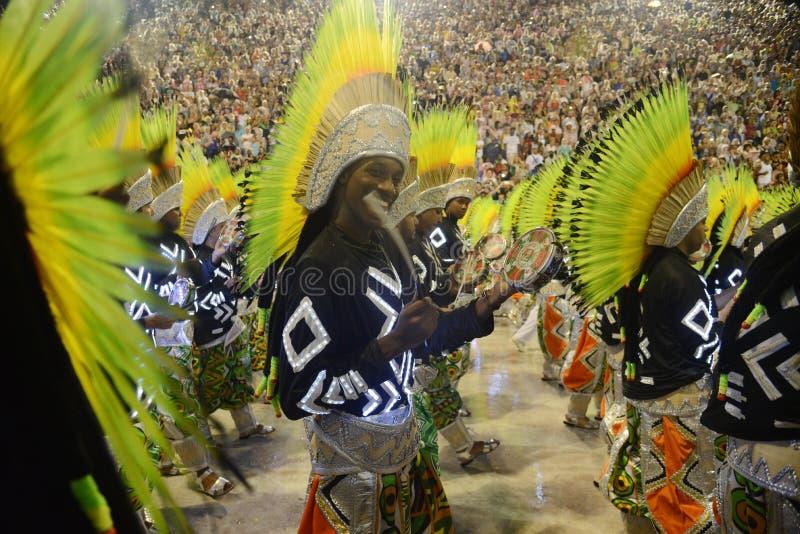 Carnaval samby tancerz Brazylia zdjęcie royalty free