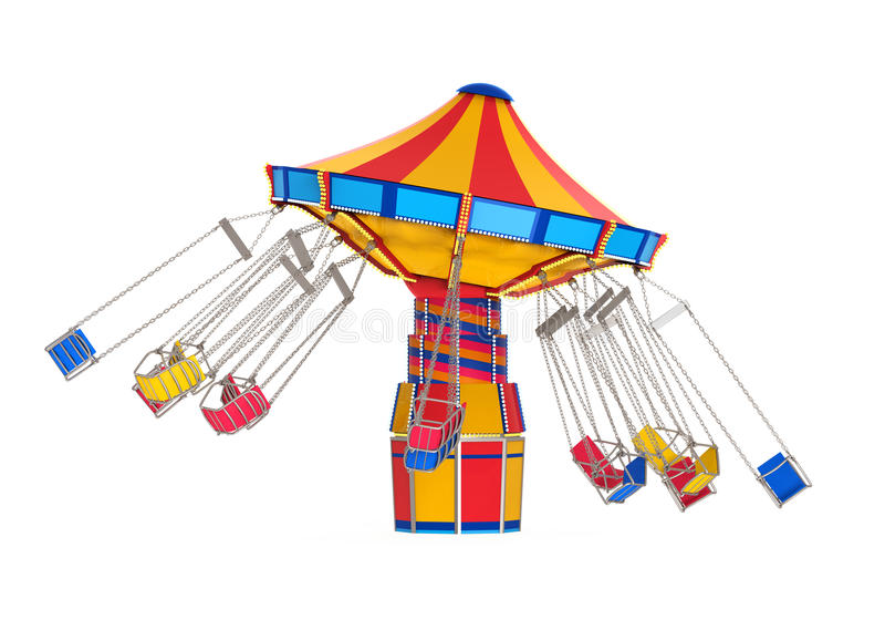 Carnaval-Schommelingsrit royalty-vrije illustratie