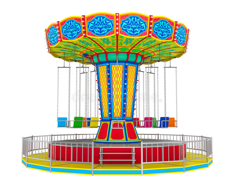 Carnaval-Schommelingsrit vector illustratie