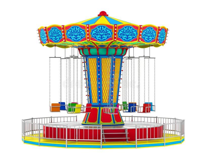 Carnaval-Schommelingsrit stock illustratie
