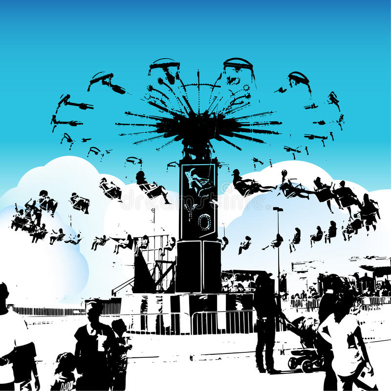 Carnaval-Schommelingsruiters royalty-vrije illustratie