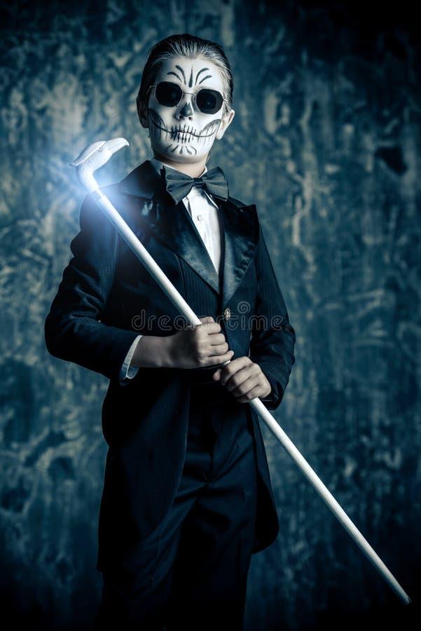 Carnaval-skeletmake-up royalty-vrije stock foto's