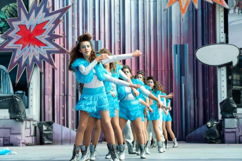 Carnaval-tieners royalty-vrije stock foto