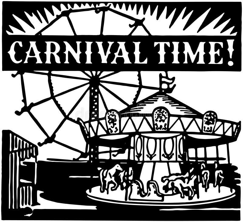 Carnaval-Tijd royalty-vrije illustratie