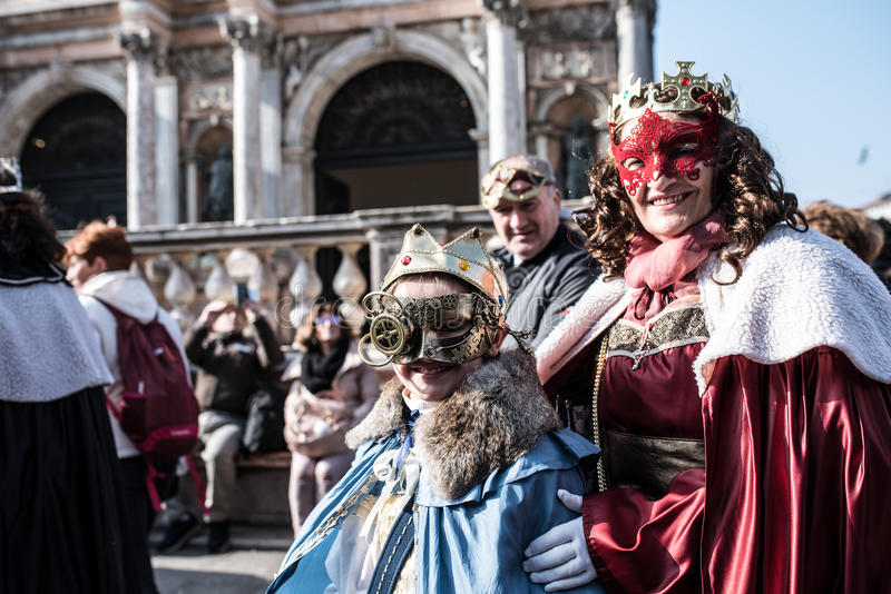 Carnaval traditionnel 2017 de Venise images libres de droits