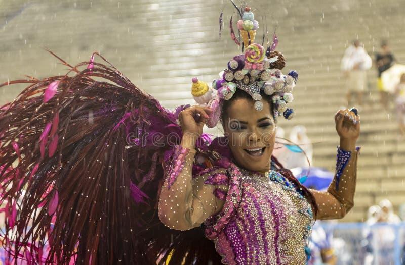 Carnaval 2019 - Unidos DA Ponte stock foto
