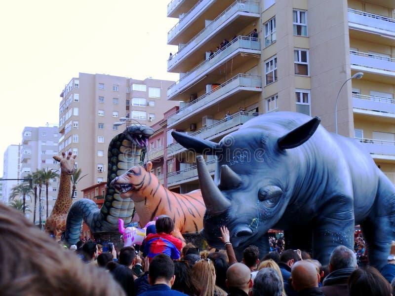 Carnaval van Cadiz 2017 andalusia spanje royalty-vrije stock foto