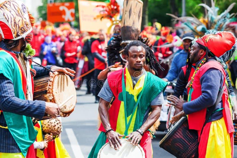Carnaval van Culturen in Berlijn, Duitsland stock foto's