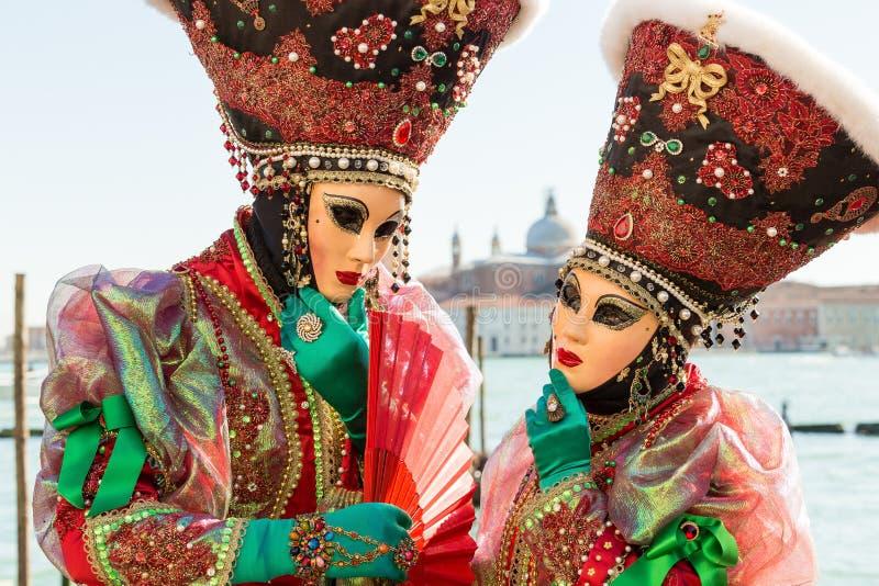 Carnaval van de maskers van Venetië stock afbeeldingen
