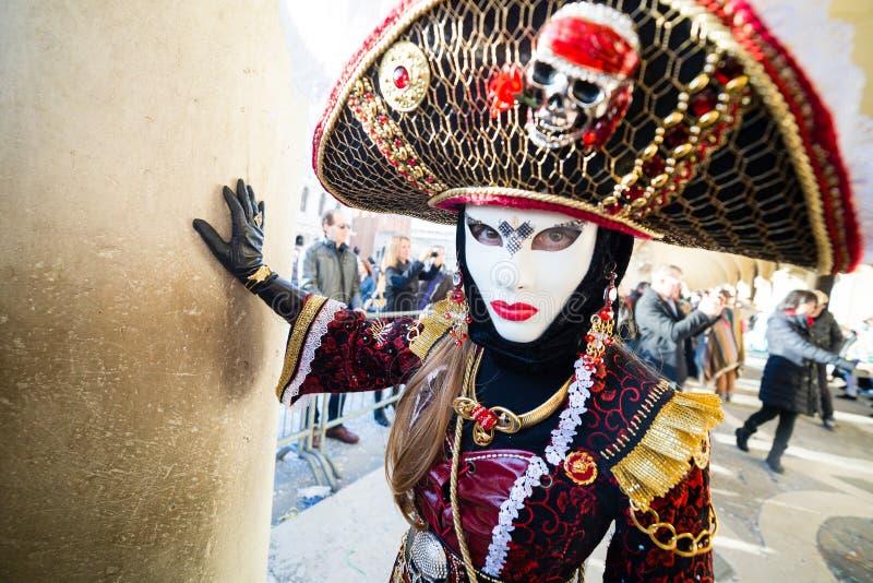 Carnaval van de maskers van Venetië stock foto