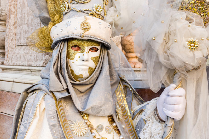 Carnaval van de maskers van Venetië stock afbeelding