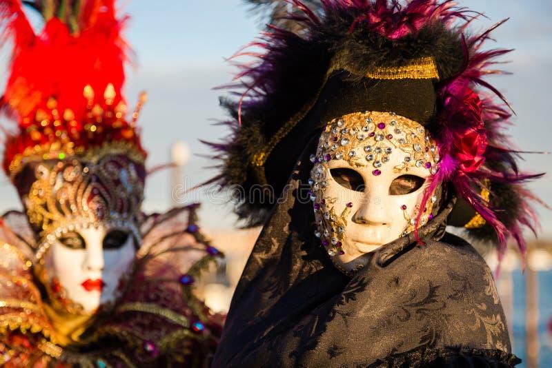 Carnaval van de maskers van Venetië stock fotografie