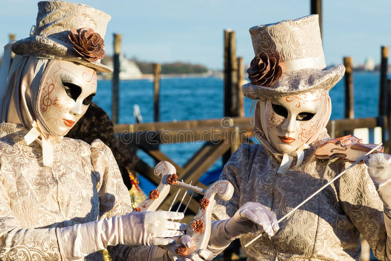 Carnaval van de maskers van Venetië royalty-vrije stock afbeeldingen