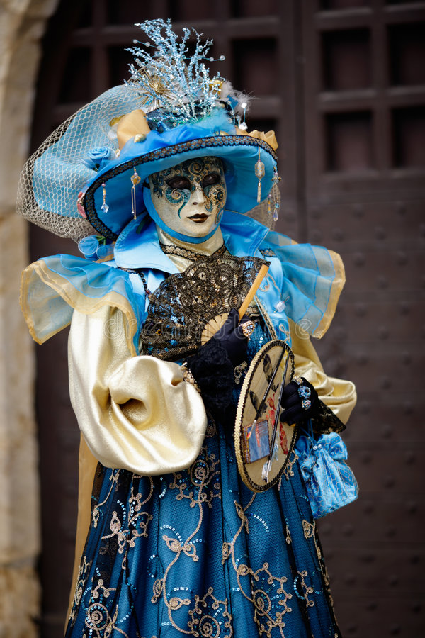 Carnaval van de vrouw masker royalty-vrije stock foto