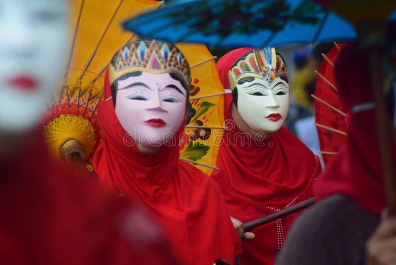 Carnaval van het District van Semarang van de Culturenverjaardag stock foto
