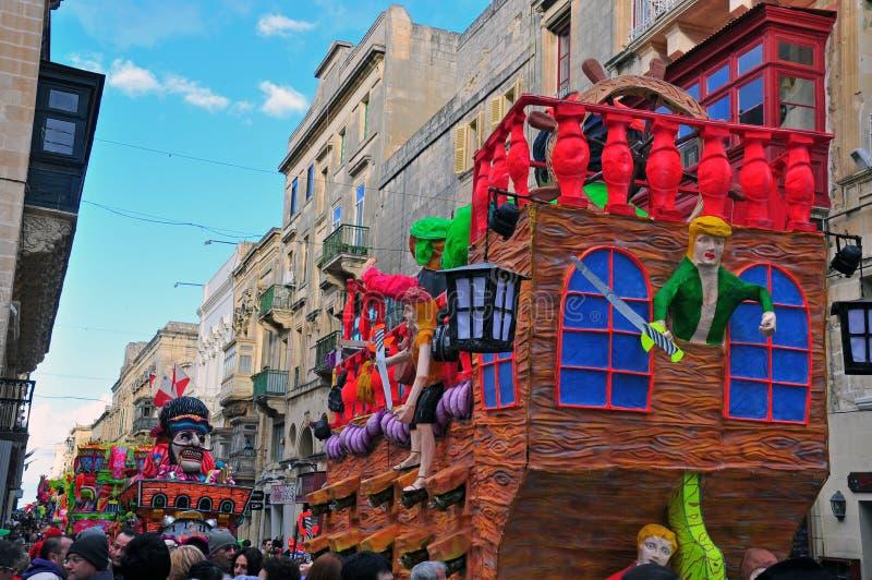 Carnaval van Malta 2014 stock foto's