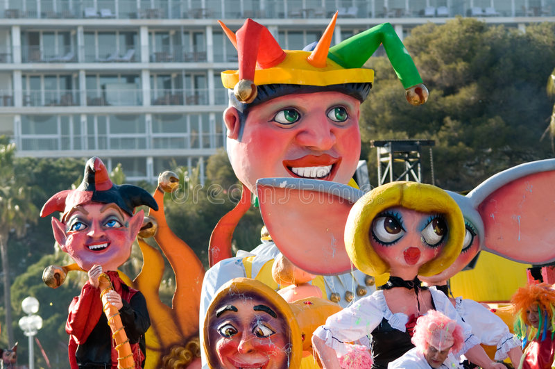 Carnaval van Nice, Frankrijk. stock foto