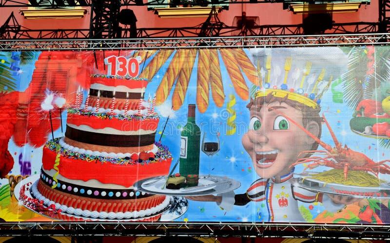 Carnaval van NICE, Franse riviera. stock afbeelding