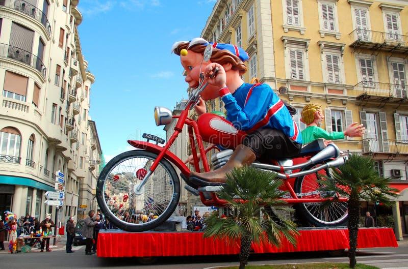 Carnaval van Nice op 21 Februari, 2012, Frankrijk royalty-vrije stock afbeeldingen