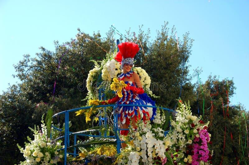 Carnaval van Nice op 22 Februari, 2012, Frankrijk stock fotografie