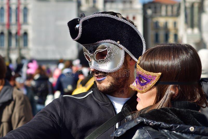 Carnaval van Venetië, Italië royalty-vrije stock afbeelding