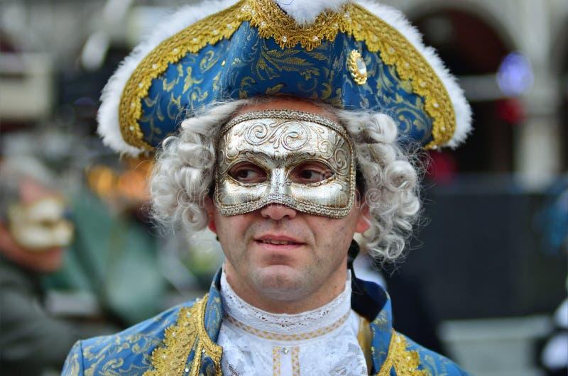 Carnaval van Venetië, Italië stock afbeelding
