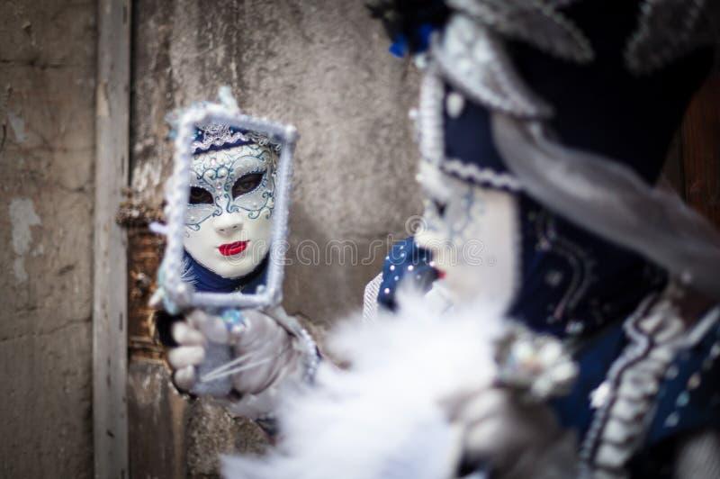 Carnaval Venetian, Annecy, France imagem de stock