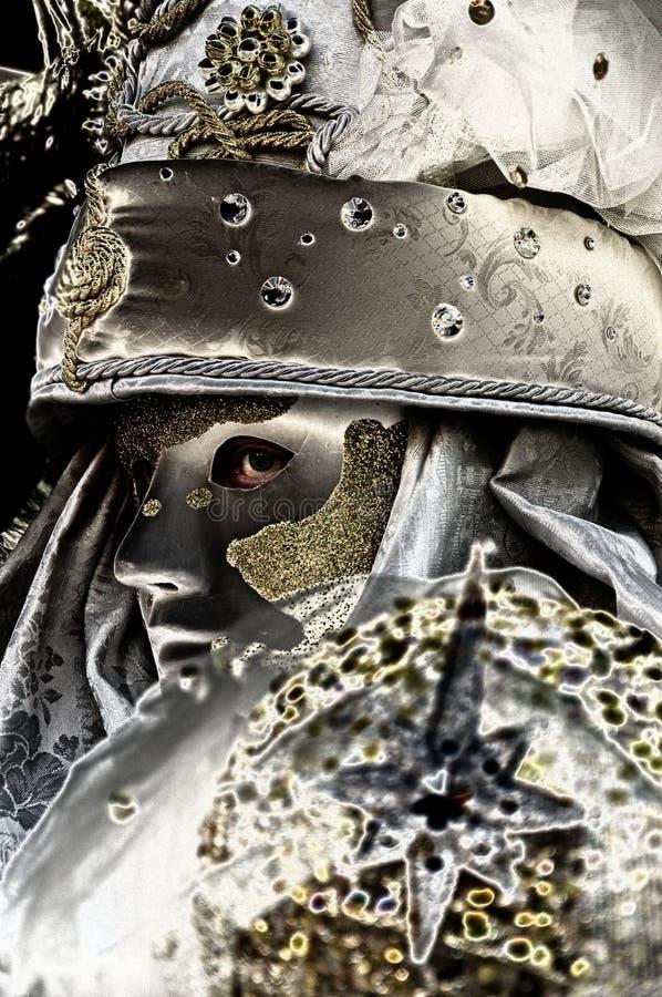 Carnaval Veneza, máscara fotografia de stock