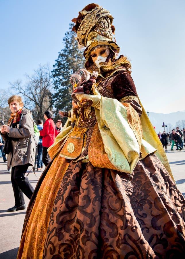 Carnaval Venitien d Annecy 2012 stock afbeeldingen