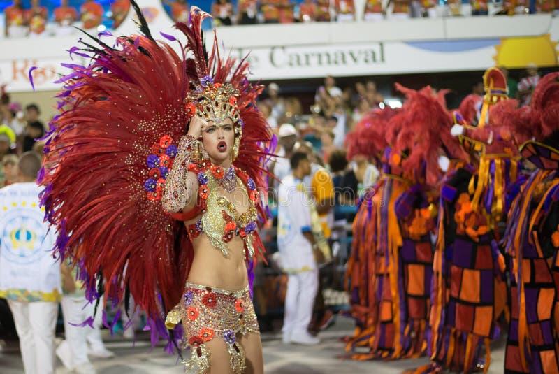 Carnaval 2016 - Vila Isabel royalty-vrije stock afbeelding