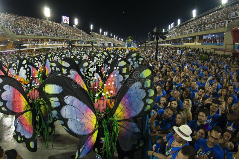 Carnaval 2019 - Vila Isabel photo stock